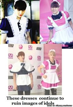 They look really cute though, Suga actually looks really good in the dress though