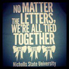 Panhellenic shirts! Nicholls State university