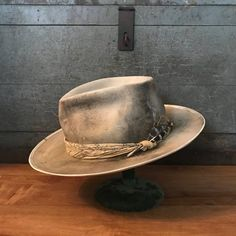 This hat is a heavy distressed fedora very one of a kind. These hats are hand made to fit you and your personality. We customize all hats to make you a one of a kind look. Please inquire with any questions or comments. Wide Brim Fedora Mens, Pat Brown, Mens Dress Hats, Custom Made Hats, Steampunk Top Hat, Kentucky Derby Hats, Cool Hats, Hats For Men, Etsy