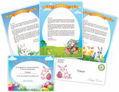Free printable, personalized letter from the Easter Bunny to your child!