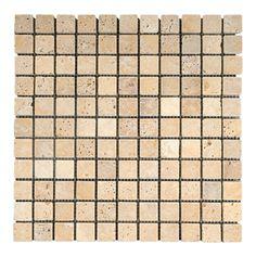 Travertine Yellow Mosaic Xmm | Topps Tiles