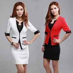 2013 summer new women skirt sets formal fashion ol suits for ladies work wear set red white plus size free shipping on AliExpress.com. $47.40 Red and Black Size Small!