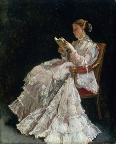 Alfred Stevens, Reading Art, Woman Reading, Reading Books, Image Avatar, William Adolphe Bouguereau, Victorian Art, Beautiful Paintings, Oeuvre D'art