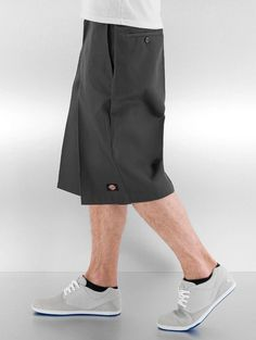 "Dickies Pant / Short Multi-Use Pocket Work"" in gray 50125 Dickies Clothing, Dickie Work Pants, Dickies Shorts, Work Shorts, Big Men, Charcoal, Gray Color, Fresh, Pocket"