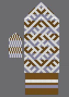 Knitted Mittens Pattern, Fair Isle Knitting Patterns, Knit Mittens, Knitting Charts, Knitted Gloves, Baby Hats Knitting, Knitting Socks, Hand Knitting, Wrist Warmers