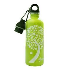 Cheeki 500ml 17oz Stainless Steel Water Bottle  Green Owl  Leaf  BPA Free -- See this great product.Note:It is affiliate link to Amazon.