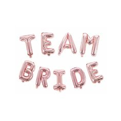 These rose gold team bride balloons are a classy and cool statement backdrop to your hen party celebrations. They are inflated with air.