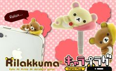 Strapya World : Rilakkuma Chara-Plug Earphone Jack Accessory (Korilakkuma)