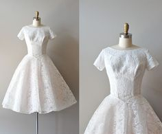 50s lace wedding dress / You by DearGolden