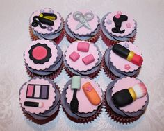 Hair/Make up cupcakes