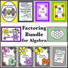 Add some fun and variety to your factoring unit with this bundle of algebra activities!