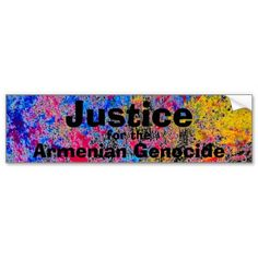 Armenian Genocide Bumper Sticker Visit: #zazzle.com/monstervox* for more Armenian Genocide products.