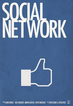 The Social Network - Minimal Movie Poster by David Lopez David Fincher, Great Films, Good Movies, Love Movie, I Movie, Atticus Ross, Oscar Movies, Minimal Movie Posters, Poster Series