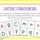 Here is a simple set of alphabet flashcards for your students to learn their uppercase and lowercase letters. The vowels are red and the consonants...
