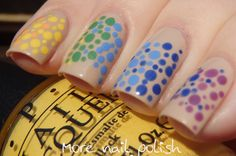 Rainbow dotticure ~ More Nail Polish