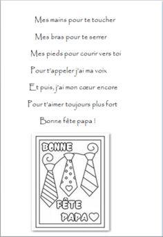 Cadre ou carte pour la fête des papas 2016 + poésie