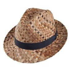 Bailey Hats Gilsig Palm Straw Trilby Hat - Brown