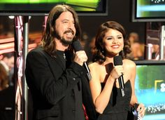 "Dave Grohl and Selena Gomez team to announce Song Of The Year nominees during ""The GRAMMY Nominations Concert Live!!"" on Dec. 1, 2010"