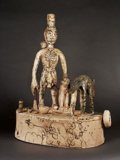 """Ted Saupe Live at the Empire 23 x 17 x 10"""" Stoneware"""