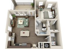 Perfect guest house/in-law suit Sims House Plans, House Layout Plans, House Layouts, House Floor Plans, Home Building Design, Home Design Plans, Apartment Layout, Apartment Design, Small Loft Apartments