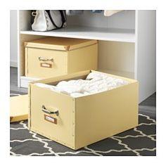 IKEA - FJÄLLA, Box mit Deckel, braun, , Für sperrige Dinge wie Decken, Bettdecken und Spiele.Lässt sich dank der Grifföffnungen einfach herausziehen und hochheben.Dank des Etikettenhalters ist alles leicht markiert und schnell gefunden.