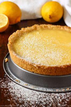 Simple Homemade Lemon Tart Recipe. Easy baking recipes for beginners. Baking from scratch.