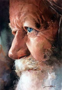Soulful Portrait Painting Ideas like the ones above are popular across art connoisseurs and artists. Watercolor Portrait Painting, Watercolor Face, Portrait Art, Painting & Drawing, Art Graphique, Figure Painting, Painting Classes, Face Art, Painting Techniques