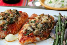 Crab-Stuffed Tilapia by Glow Kitchen. Don't settle for boring old tilapia - stuff it up with crab!