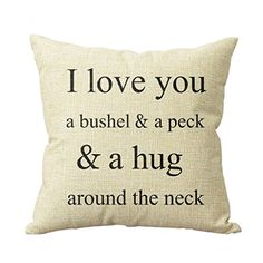 I Love You A Bushel And A Peck Personalized 18x18 Inch Square Cotton Blend Linen Throw Pillow Case Decor Cushion Covers Beige deardeer http://smile.amazon.com/dp/B00UHIY7J0/ref=cm_sw_r_pi_dp_BpLCwb1745R0H