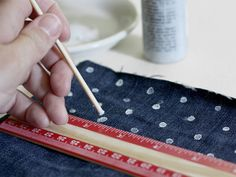 A Merry Mishap: polka dotted denim DIY