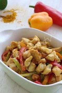 Köri soslu kremalı tavuk