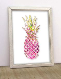 A symbol of Southern hospitality. Pineapple Printable art in shades of hot pink and green. Instant Download File: Pink Pineapple printable art. This limited edition printable is signed in the lower right side of the silhouette.  • One 8x10, 300 DPI JPG file • You can print this at 8x10, 11x14 or 16x20. Not recommended to print at 5x7 as is, due differences in aspect ratio. • Watermark will not appear on your file  For similar artwork in shades of orange coral: https://www.etsy.com&#...