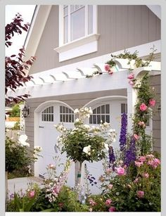 Arbor over the garage door
