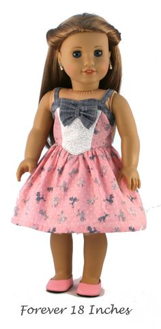 18 Doll Clothes fits American Girl Dolls Black by American Girl Dress, American Doll Clothes, Ag Doll Clothes, Doll Clothes Patterns, Clothing Patterns, American Girls, Doll Patterns, American Idol, Angel Dress