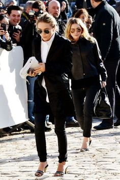 Mary-Kate & Ashley Olsen's Style, Decoded #refinery29  http://www.refinery29.com/shop-olsen-twins-style#slide-7  How To Face A Sartorial ObstacleHeels on cobblestone? Ain't no thing for a pair of queens.For a similar style, try: