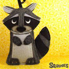 Handmade Felt Animal Woodland Christmas Ornament by Squshies