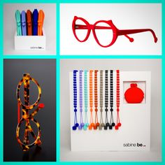 Sabine be glasses & accessories • need idea for Christmas ? be case' & be chain' available in 10 colors •  be cat's • shiny red • be trendy • matte fawn tortoise | neon orange • www.sabinebe.fr