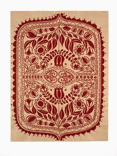 Polish folk art // silk screened paper