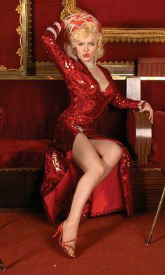 Marilyn Monroe in red dress