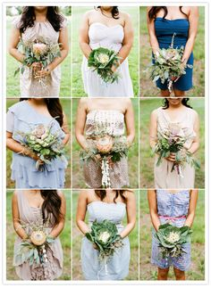PLEASE! I am totally loving this look for my maid's bouquets!