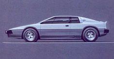 Lotus Turbo Esprit Sketch