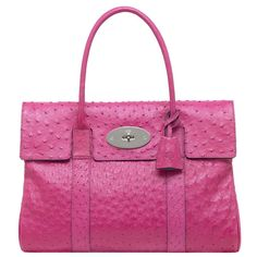 Mulberry Bayswater Hot Pink Ostrich - everyone should have a hot pink ostrich handbag!!