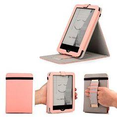 Mulbess - eReader eBook Tolino Vision 2 von Bertelsmann Weltbild Thalia Telekom Hugendubel Stand Leder Tasche Hülle Case - Leder Schutzhülle Hülle Tasche Lederhülle Sleeve Cover mit praktischer Standfunktion Farbe Rosa