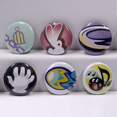 Each pin is 1.    High Quality pinback buttons inspired from The World Ends With You (TWEWY).    Includes:  Love Me Tether  Healing Bunny