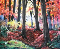 Morning Mist Through Burnham Beeches Acrylics on cm canvas. Winner: Woodland Trees Challenge Jan 2018 run by Artists United. Domino Art, Jan 2018, Burnham, Artwork Display, Acrylic Art, Landscape Art, Acrylics, Mists, Woodland