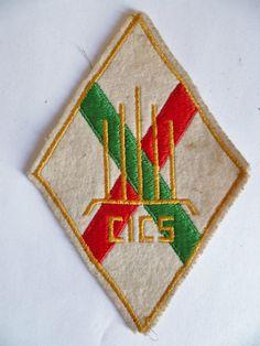 Insigne tissu ancien patch CICS CADRES LEGION ETRANGERE ORIGINAL FOREIGN FFL