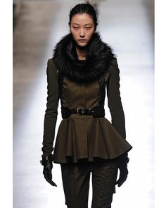 A model walks the runway at the Prabal Gurung Autumn Winter 2013 fashion show during New York Fashion Week.