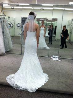 David's Bridal Galina WG3381 Blue Wedding Dresses, Wedding Dress Sizes, Wedding Stuff, Wedding Ideas, Once Wed, Davids Bridal, Fit And Flare, Brand New, Blue Homecoming Dresses