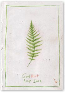 The Good Heart Recipe Book by Jónsi and Alex. A home made book, 50 or so copies, given to friends and family for Christmas in 2007, raw food recipies