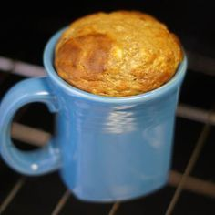 Healthy Banana Mug Cake. I finally have a simple use for overripe bananas. Uses banana, nut butter, and egg. Grain free, dairy free, and free of added sugar.: